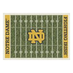 "Notre Dame University Football Field Rug, 3'10""x5'4"""