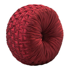 Ruby Red Ruched Pillow, Ruby Red