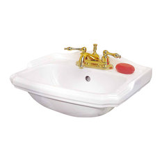 supply small wall mount bathroom sink white china centerset with overflow and backsplas