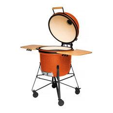 """Ceramic Barbecue, Bright Orange, 23"""""""