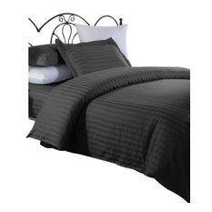 ellington home series damask stripe duvet cover set black fullqueen - Modern Duvet Covers