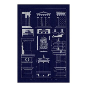 Tomb Of Amyntas And Temple Of Athena Polias Blueprint Paper Art 14 X20 Industrial Prints And Posters By Global Gallery