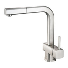 Cito, Stainless Steel Kitchen Faucet With Pull Out, Stainless Steel