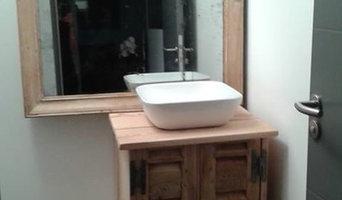 Salle de bain bois naturel