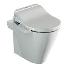 Zero Floor-Mounted Toilet With Tripada Bidet Toilet Seat