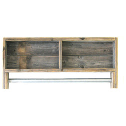 Rustic Bathroom Shelves by Doug and Cristy Designs