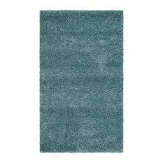 Bowery Shag Rug, Aqua Blue, 155x245 cm