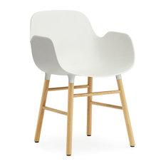 Form Armchair Wood Legs White Oak