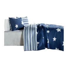 Star, Navy, 2-Piece, P, Twin