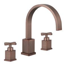 "Legion Furniture 8"" Widespread Faucet, Brown Bronze"