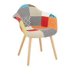 Loko Fabric Dining Chair, Patchwork