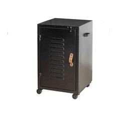 Colombus Metal Bedside Cabinet, Black, Left Opening