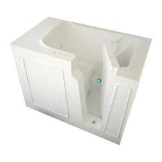 MediTub Walk-In 29 x 52 Right Drain White Whirlpool Jetted Walk-In Bathtub