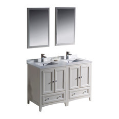 "Fresca Oxford 48"" Antique White Double Sink Vanity"