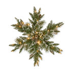 """32"""" Glittery Bristle Pine Snowflake With 21 White Tipped Cones"""