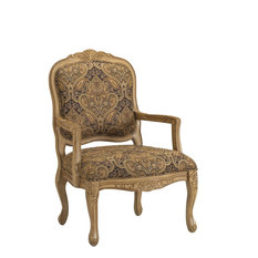 Comfort Pointe   Franklin Accent Chair, Cream And Brown, 26x29x39    Armchairs And Accent