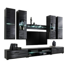 "Meble Furniture & Rugs - Modern 4 Entertainment Center Wall Unit With LED Lights 50"" TV Stand - Entertainment Centers and Tv Stands"