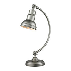1 Light Table Lamp Burnished Silver