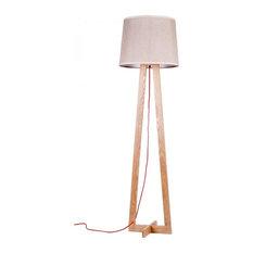Scandinavian Floor Lamp: Lamps buyer - Floor Lamp With Brown Fabric Shade and Wooden Base - Floor  Lamps,Lighting
