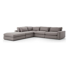 Cornerstone Modern Clic Fabric Sectional Sofa Gray 131 X131
