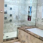 Master Bathrooms in antique limestone
