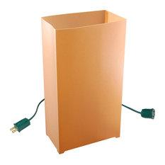 Electric LED Luminaria Kit With 6 Lanterns, Tan