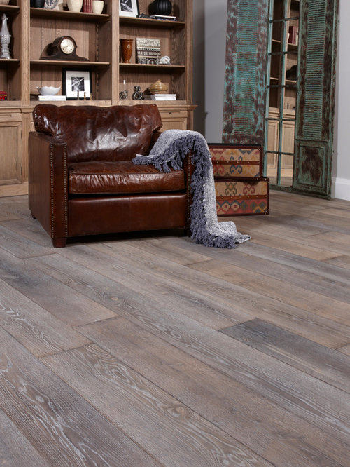 SaveEmail - Wide Plank Grey Wood Floors Houzz