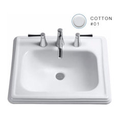 """Toto LT531 Promenade 22-1/2"""" Drop In Bathroom Sink with Single Faucet Hole Dril"""