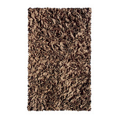 The Rug Market   The Rug Market Shaggy Raggy Brown 2235 Area Rug, 2.8X4