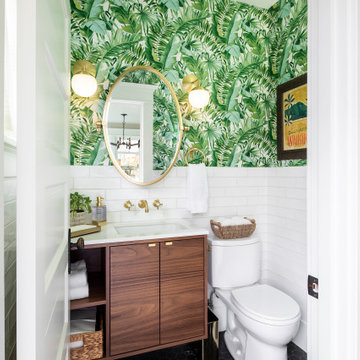 Modern Tropical Powder Room