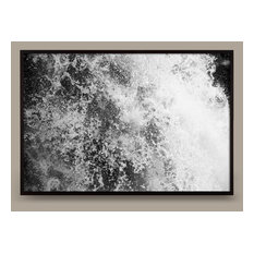 """Falling Water No. 5, 32""""x22"""" Framed, White"""
