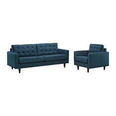 Azure Empress Armchair And Sofa Set Of 2
