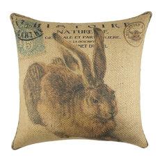 Rabbit Burlap Pillow