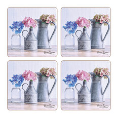 Hydrangea Collection Coasters, Set of 4