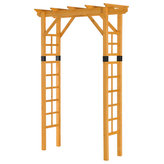 """Outsunny - Outsunny 84"""" Wooden Garden Arbor Arch Trellis, Squared - The classic design of our Outsunny wooden arbor arch offers a no-stress way to add an elegant outdoor feature to your garden setting. Use it daily as an attractive archway for climbing vines and hanging plants or decorate it with flowers or balloons for weddings and other special events."""