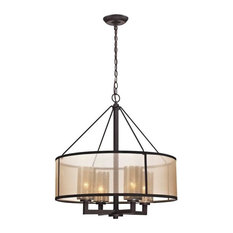 Diffusion 4-Light Chandelier, Oil Rubbed Bronze