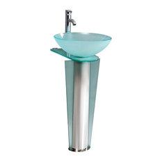 Fresca CMB1053-V Vitale Stainless Steel Pedestal Sink Fixture