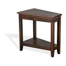 Chair Side Wedge Table Tobacco Leaf