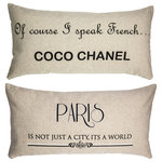 Evelyn Hope Collection - Coco Chanel Quote Paris Double Sided French Linen Pillow Gift for Women - Evelyn Hope collection pillows are treasures in home design. They have specially designed messages on the front and back for a look that can be adjusted day to day. Zippered covers are easy to change for every reason and season. This order includes one pillow with an insert and a different design on each side. Inserts are crafted from USA-made, mold-resistant polyester.