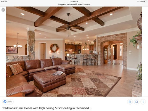 We Are Planning To Have A Coffered Ceiling And Use Wood Beams In Our New Build Want It Look Authentic Does Inspiration Pic