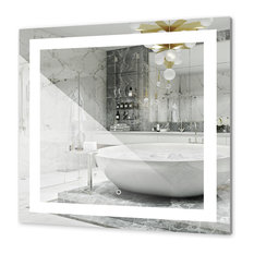 """36""""x36"""" Square Bathroom Led Lighted Backlit Mirror with Dimmable Switch"""