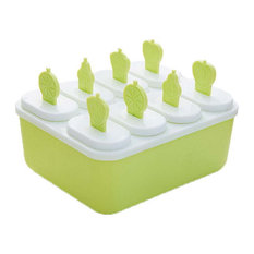 Homemade Ice Pop Molds With base Make Ice Pop At home 8 Lattices,Green
