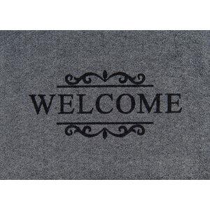 Clean Keeper Grey Welcome Doormat