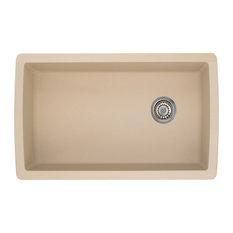 """BLANCO - Blanco 441764 18.5""""x33.5"""" Granite Single Undermount Kitchen Sink, Biscotti - Kitchen Sinks"""