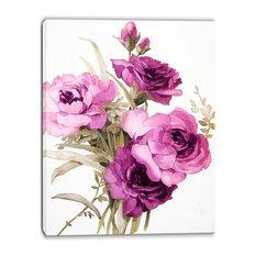 """Bunch of Purple Flowers"" Floral Canvas Art Print, 30""x40"""