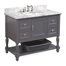 Kitchen Bath Collection Beverly Bath Vanity Base Charcoal Gray 42