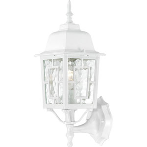 "Nuvo 60-4907 17/"" Outdoor Lamp Post Lights in White Finish with Frosted Glass"