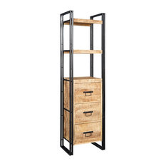 Cosmos Industrial Slim Bookcase