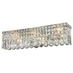 "Starry Sky Trading Inc - 6-Lights 24'' Long Clear Crystal Wall Sconce Vanity Light - Dimensions: D24"" x H6.25"""