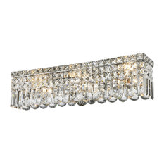 Crystal vanity lights houzz starry sky trading inc 6 lights 24 long clear crystal wall sconce mozeypictures
